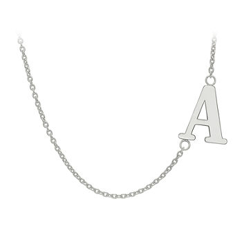 Personalized Sideways Single Initial Necklace
