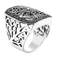 Sparkle Allure Gray Cocktail Ring