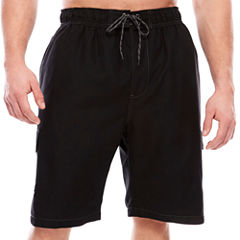 The Foundry Big & Tall Supply Co. Solid Cargo Swim Shorts Big and Tall