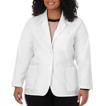 "White Swan Meta 14104 Women's 28"" 3-Pocket Consultation Coat - Plus & Tall"