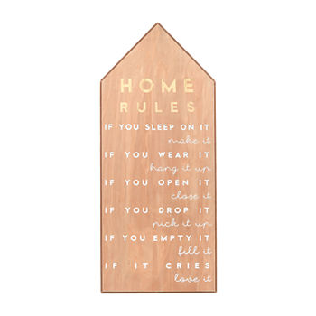 11x28 Home Rules Wall Sign