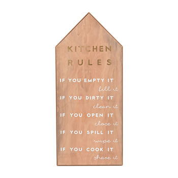 18x28 Kitchen Rules Wall Sign