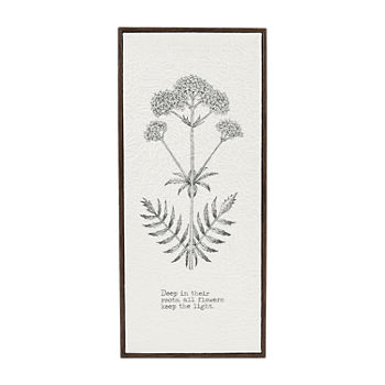 8x18 Botanical Crinkle Cut Wall Sign