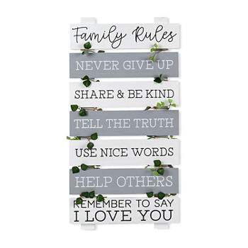 12x24 Family Rules Wall Sign