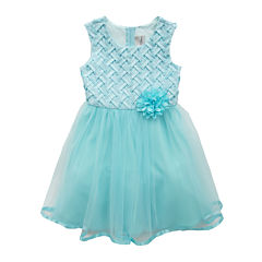 Rare Editions Sleeveless Basket Weave Dress - Girls 7-16
