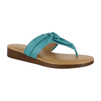 5290a4272e348 Flat Sandals Women s Sandals   Flip Flops for Shoes - JCPenney