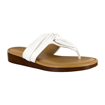 0dc545bc135 White Women s Sandals   Flip Flops for Shoes - JCPenney