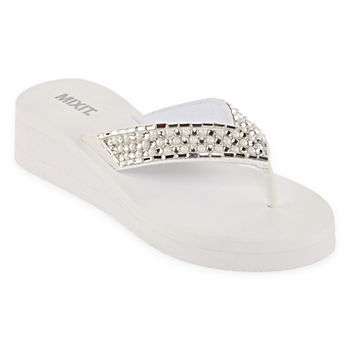 7aa64b7f3a5b White Women s Sandals   Flip Flops for Shoes - JCPenney