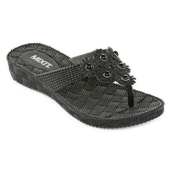 6e0b27ec2 Mixit Women s Sandals   Flip Flops for Shoes - JCPenney