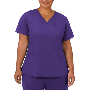 Jockey 2299 Womens V Neck Scrub Top-Plus