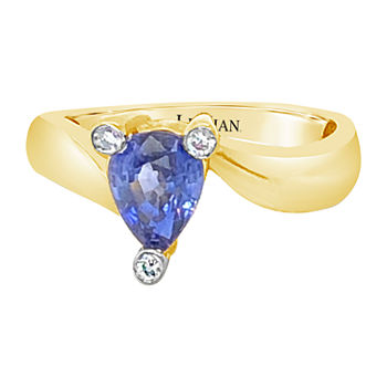 LIMITED QUANTITIES! Le Vian Grand Sample Sale™ Ring featuring Cornflower Ceylon Sapphire™ Vanilla Diamonds® set in 14K Honey Gold™