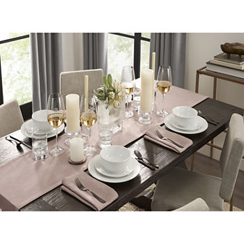 Fieldcrest Luxury Washed Linen Table Runner