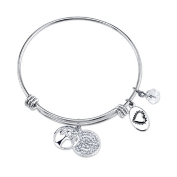 Footnotes Footnotes Womens Silver Over Brass Charm Bracelet