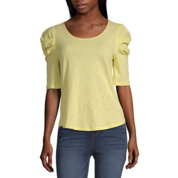Blouses Yellow Tops For Women Jcpenney