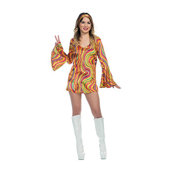 Girls Rainbow Lights Disco Diva Costume Girls Costume Girls Costume