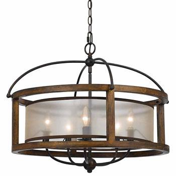 Invogue lighting 20 50 inch five light round chandelier in dark bronze
