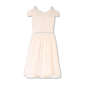 35419fba33588 Speechless Embellished Short Sleeve Cold Shoulder Sleeve Party Dress -  Preschool / Big Kid Girls