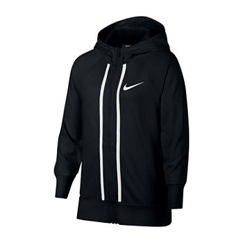 Nike Long Sleeve Full Zip Jersey Hoodie Big Kid Girls 7 16