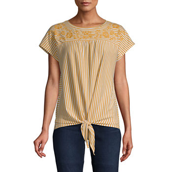 03f2b3f0c Petites Size Yellow Tops for Women - JCPenney