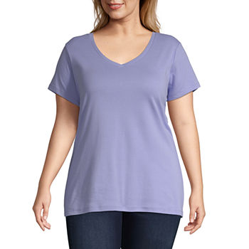 22b70c17672 Plus Size Purple Tops for Women - JCPenney