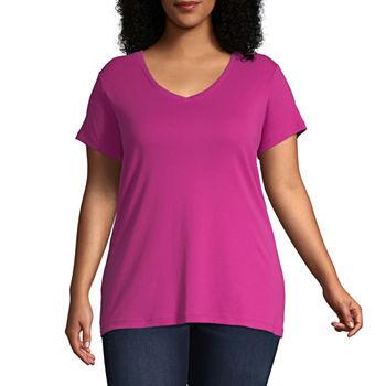 dda09256 size range(1). Only at JCP. Cranberry. Pinwheel Pink