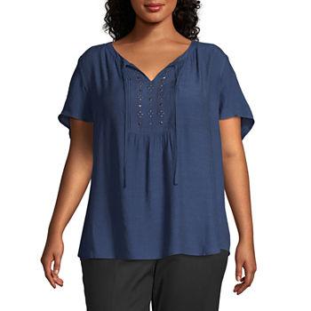 0db09010cf5 Liz Claiborne Plus Size Tops for Women - JCPenney