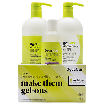 DevaCurl Make Them Gel-ous Curly Cleanse & Condition Liter Kit