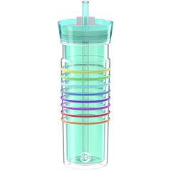 Zak Designs® HydraTrak™ 20-oz. Insulated Striped Tumbler with Straw