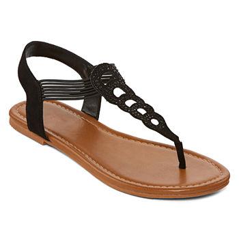 22a7b31ba34e Arizona Black Women s Sandals   Flip Flops for Shoes - JCPenney