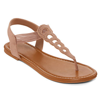 ea30c6974fe72 Flat Sandals Women s Sandals   Flip Flops for Shoes - JCPenney