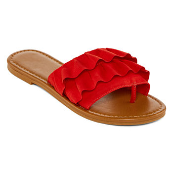 652a3625667c0 Slide Sandals Juniors  Sandals   Flip Flops for Shoes - JCPenney