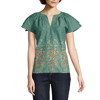 84060eff2f5 Green Tops for Women - JCPenney
