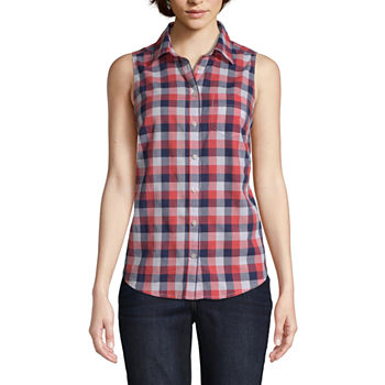 af04a3c0a Button-front Shirts Tops for Women - JCPenney