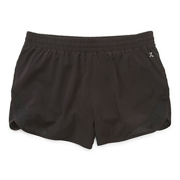 Xersion Little & Big Girls Mid Rise Adjustable Waist Running Short