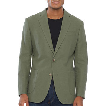 Stafford Linen Cotton Mens Classic Fit Sport Coat