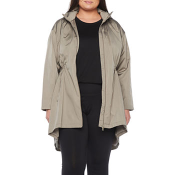 Stylus High Low Lightweight Raincoat-Plus