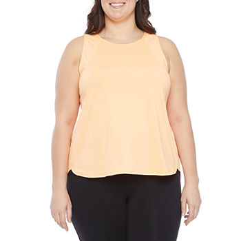 Xersion Womens Plus Crew Neck Sleeveless Tank Top