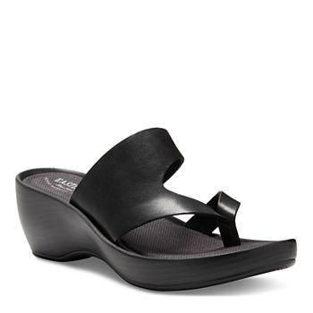 a0a0ff71d347 Black All Sandals   Flip Flops for Shoes - JCPenney