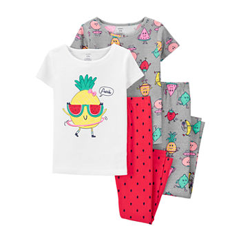 Carter's Little & Big Girls 4-pc. Pajama Set
