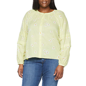a.n.a-Plus Womens Long Sleeve Regular Fit Button-Down Shirt
