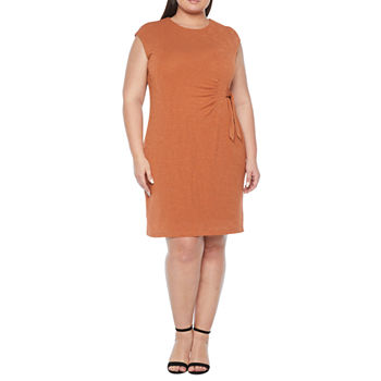 Liz Claiborne-Plus Short Sleeve Sheath Dress