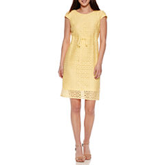 R & K Originals Short Sleeve Sheath Dress