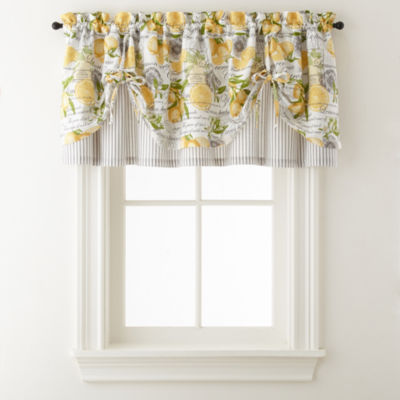 Home Expressions Lemon Zest Rod Pocket Tie Up Valance
