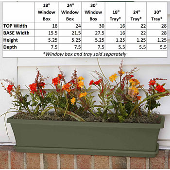 Outdoor Planters Green Garden & Lawn Care For The Home - JCPenney on modern plant box, house tissue box, winter plant box,