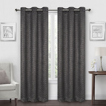 Regal Home Marcy Energy Saving Blackout Grommet-Top Set of 2 Curtain Panel