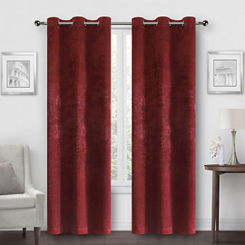 Regal Home Peninsula Faux Suede Energy Saving Blackout Grommet-Top Set of 2 Curtain Panel