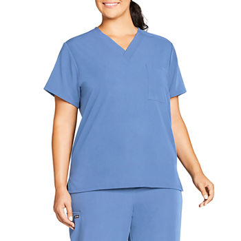 Jockey® 2200 Classic 1-Pocket Unisex Stretch V-Neck Scrub Top–Big