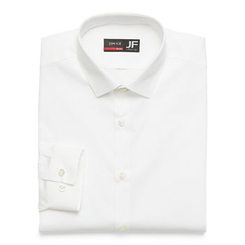 JF J.Ferrar Slim Mens Spread Collar Long Sleeve Stretch Dress Shirt
