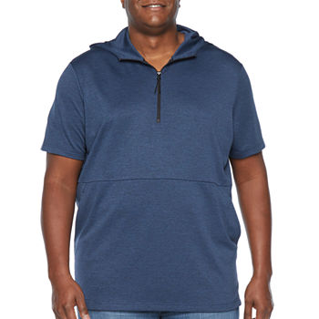 Msx By Michael Strahan-Big and Tall Mens Short Sleeve Hoodie