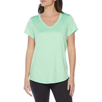 Xersion Everair Womens V Neck Short Sleeve T-Shirt
